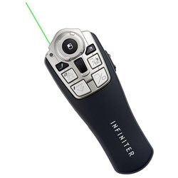Infiniter Gyro Wireless Mouse Presentation Remote with Green Laser Pointer