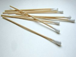 """Premiere 6"""" Wood Stem Cotton Tipped Applicator - Case of 10000 (95-8702)"""
