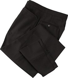 Smitty Referee with Western Cut Pockets and Belt Largeloops Pants, Black, 38-Inch