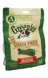 Greenies - Dental Chews For Dogs Grain Free Regular - 12 Chews