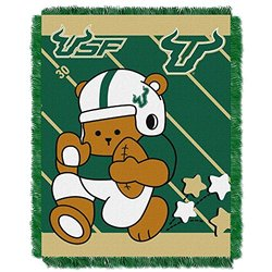 NCAA  University of South Florida Baby Jacquard Fullback Throw multicolor