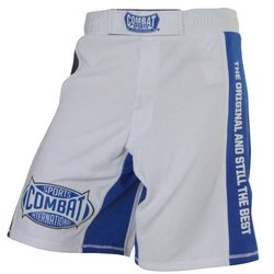 Combat Sports MMA Training Boardshorts, White, 30-Inch