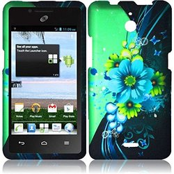 HR Wireless Huawei Valiant/Huawei Ascend Plus H881C Rubberized Design Protective Cover - Retail Packaging - Sublime Flower
