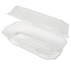 "Pactiv Clear 7 1/2"" Hoagie Package"