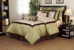 Fashion Street Savanna  Comforter Set - Sage - Size: Queen - 8-Piece