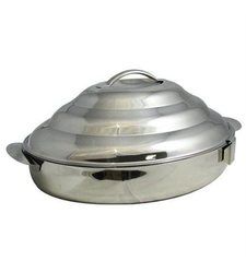Bon Chef Stainless Steel Double Wall Oval Insulated Server