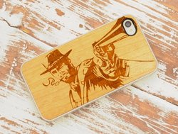 CARVED Wild West Wood Clear Case for iPhone 4/4S - Natural Bamboo (CC1A-E-WLDWST)