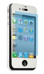 Clear Protector iPhone 4/4S Universal CARBN Screen Protector - White