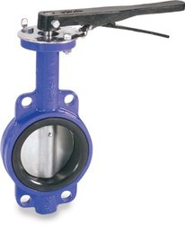 "Smith-Cooper 5"" Stainless Steel 316 Disc Wafer Style Iron Butterfly valve"