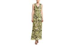 Marc New York Wome's Cowl Neck Printed Maxi - Citrus - Size: 8