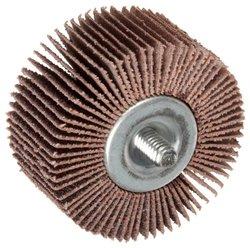 "Norton Metalite R265 Abrasive Flap Wheel, Threaded Shank, Aluminum Oxide, 3"" Dia., 1"" Face Width, Grit 60, 20000 Max RPM (Pack of 10)"