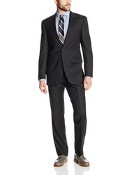 Kenneth Cole Men's 2 Button Slim Fit Suit - Black - Size: 46L