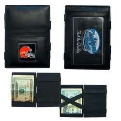 Siskiyou NFL Cleveland Browns Leather Jacob's Ladder Wallet