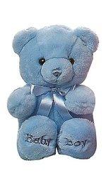"Aurora Plush Baby Comfy Baby Boy Bear - Blue - Size: 10"""
