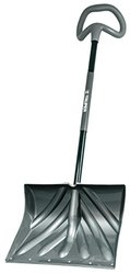"""Truper Poly Combo Snow Shovel with Galvanized Metal Wear Strip & 18"""" Blade"""