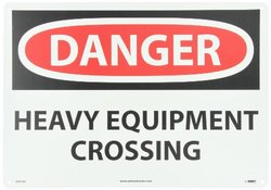 "National Marker ""DANGER - HEAVY EQUIPMENT CROSSING"" OSHA Sign (D471AC)"