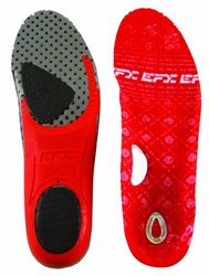 Efx Performance 3.0 Insoles for Foot - Red/Gray - Size: X-small