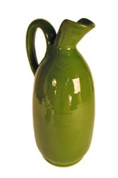 Terafeu Hand Made Pottery Urban Style Pitcher - Green - 33 Ounce