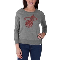 NBA Miami Heat Women's Glimmer Crew Neck Pullover, Slate Grey, Large