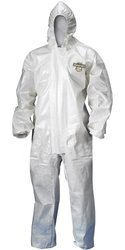 Lakeland ChemMax 2 Sealed Seam Disposable Coverall with Hood, Elastic Cuff, X-Large, White (Case of 6)