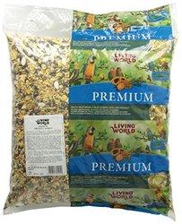 Living World Small Parrots Mix Bird Food with Pillow Bulk Bag- 20-Pound