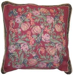 DaDa Bedding CC-5594 Field of Roses Woven Cushion Cover, 18-Inch