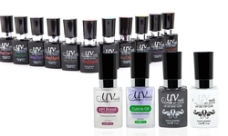 Uv-nails Complete Gel Polish Set: Top Coat-base Coat-ph Bond-cuticle Oil