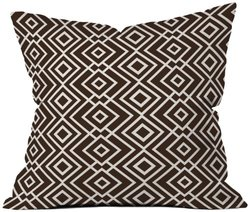 "Deny Designs Howell Theory Wallpaper Throw Pillow - Brown - Size: 18""x18"""