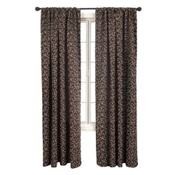 Diplomat Decor Morrison Scroll 84-Inch Rod Pocket Panel, Blue Chocolate