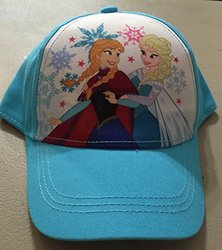 Disney Girls Frozen Anna Elsa Baseball Cap - Aqua