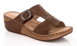 Lady Godiva Women's Sandals - Brown - Size: 5.5
