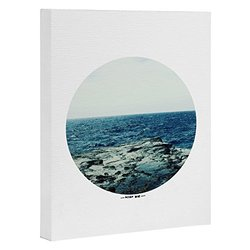 "Deny Designs Leah Flores Canvas Wall Art - Ocean Blue - Size: 16"" X 20"""