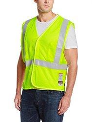 Utility Pro UPFR201 Flame-Resistant High Visibility Mesh Vest, 3X-Large, Lime