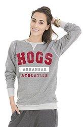 NCAA Women's Arkansas Razorbacks Colby Tri-Blend Sweatshirt - Tri-Grey/L