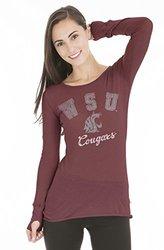 NCAA Washington State Cougars Women's Long Sleeve Tee - Crimson - Size: L