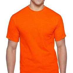 Gildan Men's Workwear High Visibility Crew T-Shirt - 2-Pk -Orange - Size:L