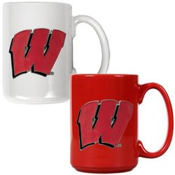 Wisconsin Badgers NCAA c Ceramic Mug Set - Primary Logo 2