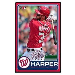 "WinCraft 11""x17"" MLB Washington Nationals Bryce Harper Wood Sign - White"