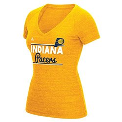 adidas Women's NBA Indiana Pacers Double Bar T-Shirt - Grey - Size: Medium