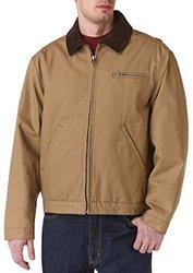 Teflon Men's Duck Jacket with Contrast Corduroy Collar, 3X-Large, Tan
