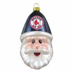 Boston Red Sox Blown Glass Santa Cap Christmas Tree Ornament