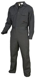 """Flame Resistant Coveralls - Gray / 64-Tall Chest-64"""" Waist-64"""" Inseam-32"""""""