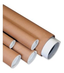 """Box Partners 2 1/2"""" x 26"""" Kraft Mailing Tubes with Caps"""