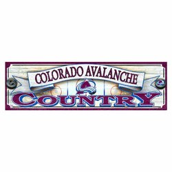 WinCraft NHL 9-by-30 Colorado Avalanche Wood Sign