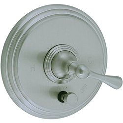 Cifial 278.611.620 Asbury Pressure Balance Shower Valve Trim with Diverter and Metal Lever Handle, Satin Nickel