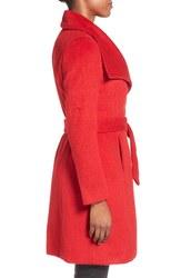 T Tahari Women's Mia Wool Belted Coat - Poppy - Size: 2