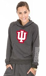 NCAA Indiana Hoosiers Buttersoft Tri-Blend Hoodie, Medium, Tri-Onyx
