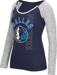 Adidas Women's Dallas Mavericks Liquid Dots T-Shirt - Navy - Size: Large