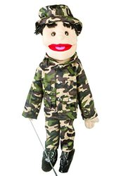 "28"" Army Boy Puppet w/ Brown Eyes"