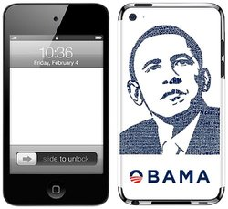 Zing Revolution LA Pop Art Premium Vinyl Adhesive Skin for iPod touch 4G, Obama